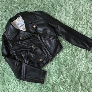 Cheap and Chic Moschino Leather Moto Jacket